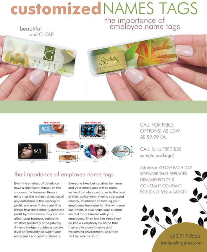 Beauty Industry - Customized Name Tags