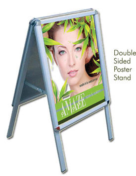 Double Sided Poster Stand